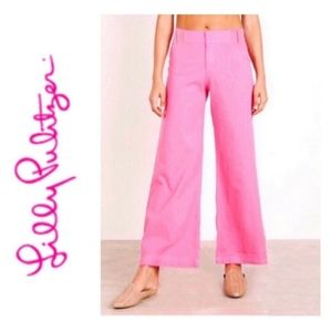 Lilly Pulitzer Hot Pink Cropped Wide Leg Pants 2